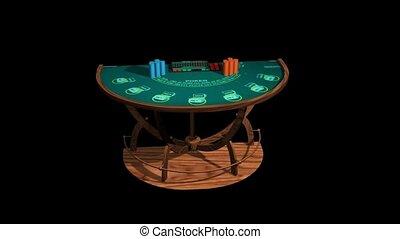 노름하는, 테이블