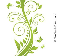 녹색의 발췌, 나무