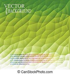 녹색의 백색, 빛, polygonal, 모자이크, 배경, 벡터, 삽화, 사업, 디자인 템플렛
