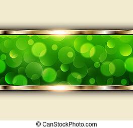 녹색의 빛, 배경