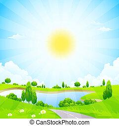 녹색의 풍경