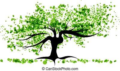 녹색 나무