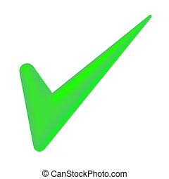 녹색, 대조 표시