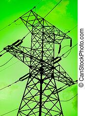 녹색, 에너지, 은 이다, 날씬한, 환경
