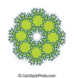 녹색, 예술, 만다라