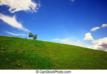 녹색, 은 수비를 맡는다, 그리고 푸른색, 하늘