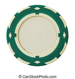 녹색, 카지노 칩