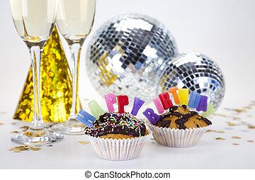 놀람, 생일, 컵케이크
