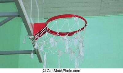 농구 링, 와..., a, 빌보드, 스포츠, 에서, 그만큼, 학교, 체조