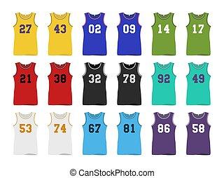 농구, jerseys