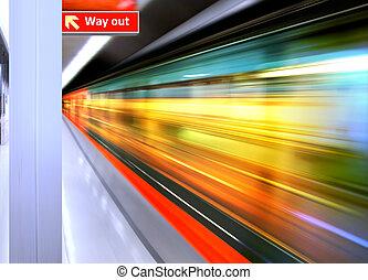 높은, 기차, 속력