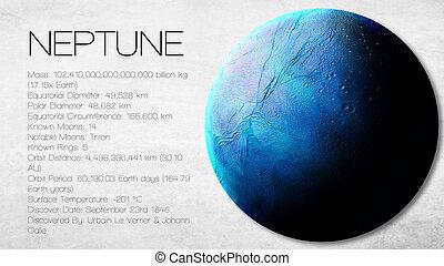 높은, 성분, 보기, 공급된다, 이것, -, 심상, 해왕성, 체계, nasa., 하나, 은 선물한다, infographic, 태양의, 행성, 결의안, facts.