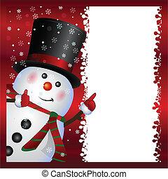 눈사람, 입는 것, 카드
