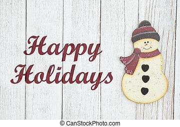 눈사람, 휴일, 휴일, 표시