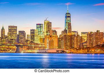 뉴욕시, 이스트 리버, 도시 풍경