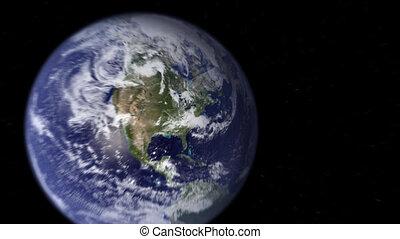 뉴욕, 지구, 급상승, 공간