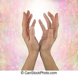 느낌, quantum, 치유하는, 에너지