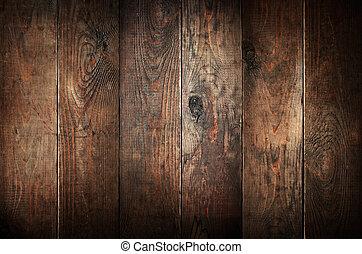 늙은, 극복되는, 떼어내다, 배경., 나무, planks.