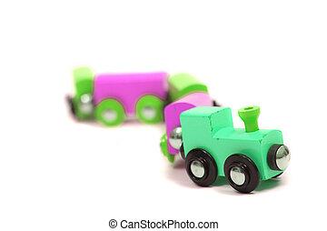 늙은, 나무의 장난감, 기차