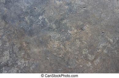 늙은, 더러운, 시멘트, 벽, 배경