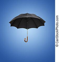 늙은, 우산