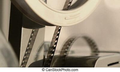 늙은, 투영기, 전시, 필름, 상세한 묘사