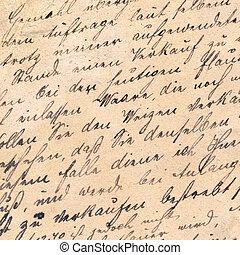 늙은, 필적, circa, -, 1881