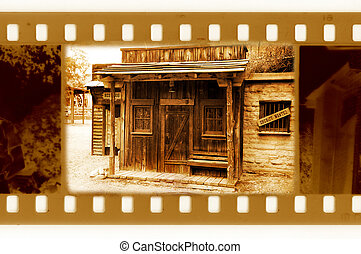 늙은, 35mm, 구조, 사진, 와, 포도 수확, 주 장관, 집