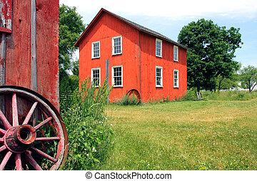 늙은, barnyard
