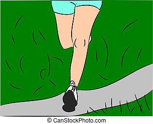 다리, 달리기