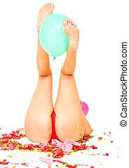 다리, 보유, balloon