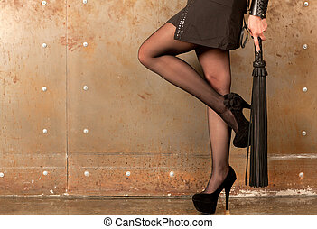 다리, 여성, 채찍