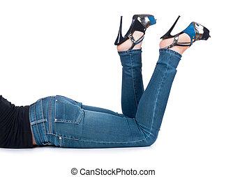 다리, 와, jeans