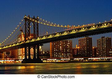 다리, 요크, 맨해튼, 미국, 새로운