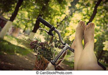 다리, 자전거에서