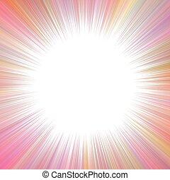 다채로운, 공간, 떼어내다, starburst, 배경, 공백, 환각