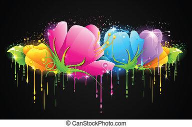 다채로운, 꽃