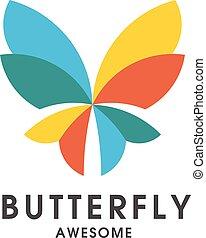 다채로운, 나비, 로고