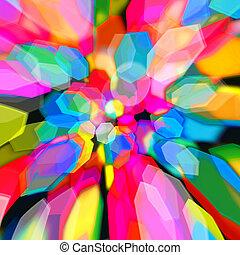 다채로운, 떼어내다