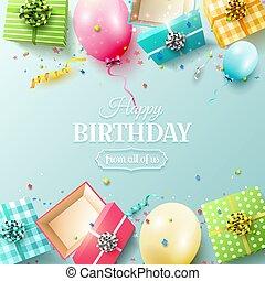 다채로운, 본뜨는 공구, 생일