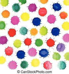 다채로운, 예술, 튀김