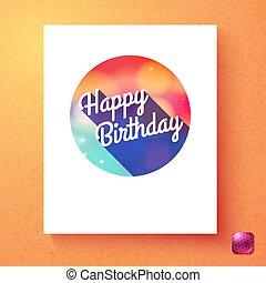 다채로운, 원본, 생일, 본뜨는 공구, 기장, 행복하다