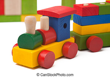 다채로운, 장난감 기차