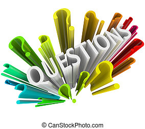 다채로운, 질문, -, 상징, 기호, 3차원