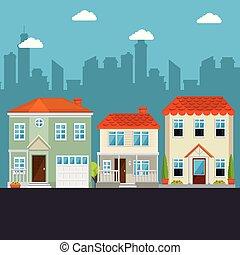 다채로운, 집, 에서, 근처