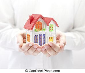 다채로운, 집, 에서, 손