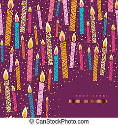 다채로운, 초, 구조, 생일, 벡터, 배경, 구석