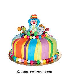 다채로운, sweets., 케이크, 생일, 화려한, children.