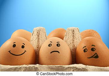 달걀, 정서