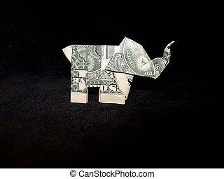 달러, 코끼리